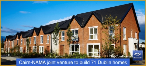 Cairn-NAMA joint venture to build 71 Dublin homes.