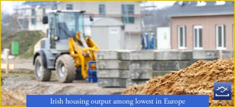 Irish housing output among lowest in Europe