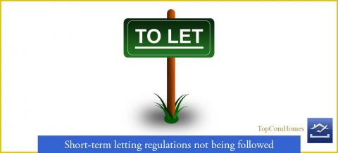 Short-term letting regulations not followed